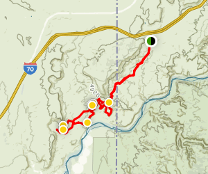Rabbit Valley to Western Rim Loop Map