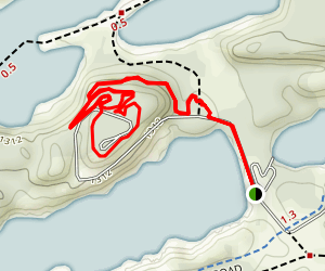 Crusher to Miner's Mountain Loop Map