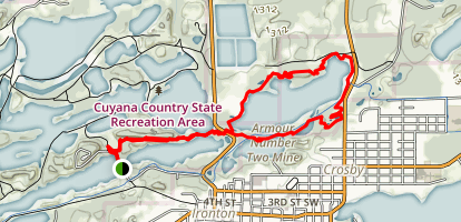 Switchback to Dragline Loop Map