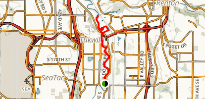 Green River Trail: Tukwila Section Map