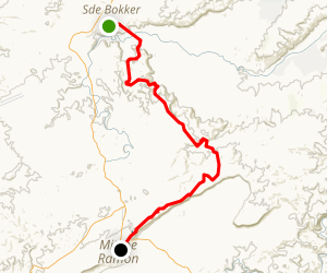 Israel National Trail: Sde Boker to Mitzpe Ramon Map