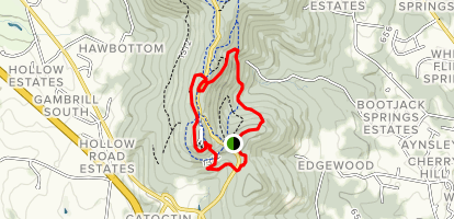 Catoctin Trail to Black Trail Loop Map
