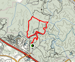 Company Mill Trail to Reedy Creek Trail Loop Map