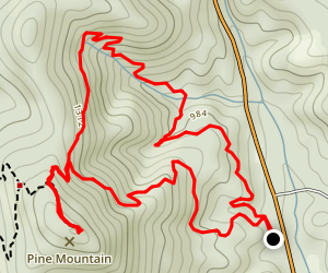 Pine Mountain Summit via East Loop Trail Map