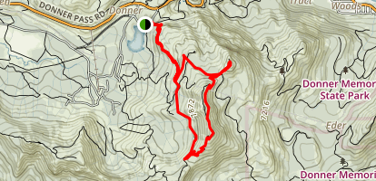 Donner Peak and Judah Summit Loop Map