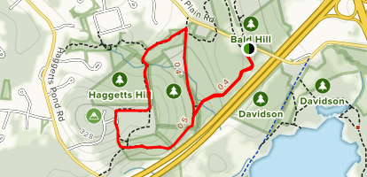 Andover Wood Hill Trail Map