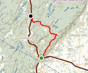 Pine Meadow Trail: Suffern to Tuxedo Map
