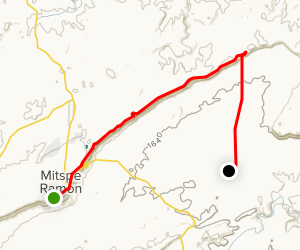Incense Route Hike from Mitzpe-Ramon to Mahmal Fortress Map