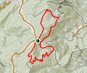 Humpback Rocks and Dobbie Mountain Map