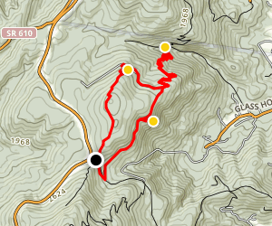 Dobie Mountain and Paul Wolfe Shelter Loop Map