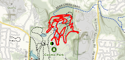 Cosmo Park Trail Map