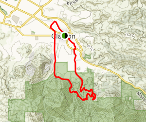 Donner Canyon Road to Mitchell Canyon Road Loop Map