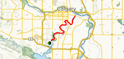 Elbow River Pathway Map