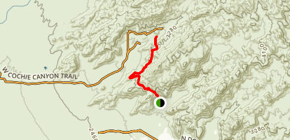 Cochie Springs Trail via Upper Javelina Trail Map