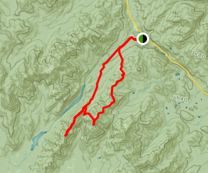Mount Colvin, Nippletop, and Dial Mountain Loop Map