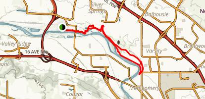 Baker and Bowmont Park Loop Map