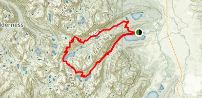 Alice Lake, Twin Lake, Edith Lake Loop Map