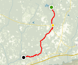 Down the Blackwater River Canoe/Camping Map