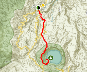 Quilotoa Lake from Chugchilán Map