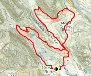 Snodgrass, Lupine, and Lower Loop Map