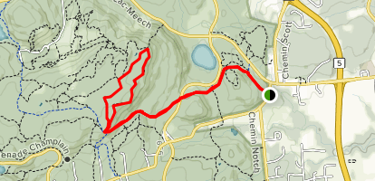 Wattsford's Lookout via Trail #1 and Trail #6 Loop Map