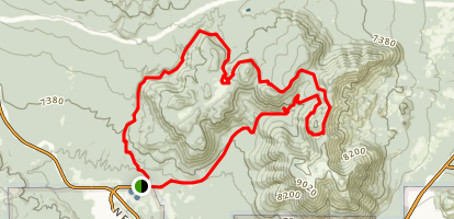 Mount Elden Loop via Lookout Road and Schultz Creek Trail  Map