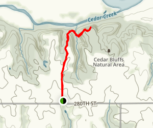 Cedar Bluffs Map