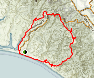Limantour Beach to Mount Wittenberg Loop Map