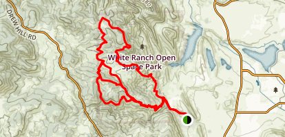 White Ranch Open Space MTB Trails Map