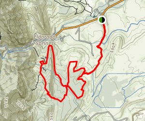 Goshawk to Doudy Draw Trail Map