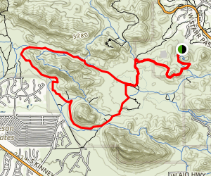 Starr Pass Trail and Yetman Trail Loop Map