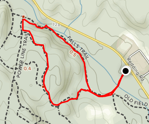 Falls Trail to Knapp Way Loop Map