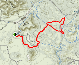 Coxcomb to Dawa Loop Map