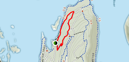 Switchbacks to Riech's LInk and Olympians Links Map