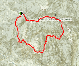 Lost Creek Wilderness Loop Map