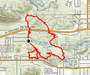 Robles Pass Loop via Bittersweet Trail Map