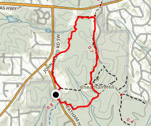 Old John Ward Connector Trail and Cease Fire Trail Map