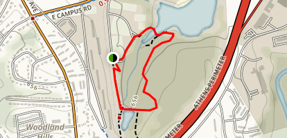 Lake Herrick and Herrick Creek Loop Map