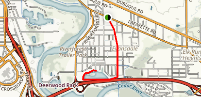 Evansdale Bike Trail Map