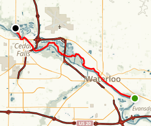 Cedar Valley Lakes Trail Map