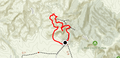 Fort Robinson West Trail from Long Barn Map