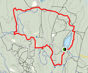Breakhart Pond and Shelter Loop Map