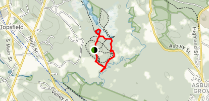 Rockery Pond and South Esker Loop Trail Map