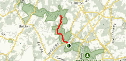 Little Gunpowder Trail to Bottom Road Map