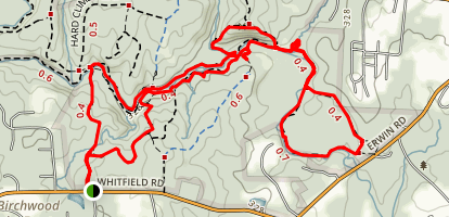 Rhodo Trail to New Hope Creek Trail Loop Map