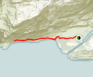 Shoup Bay Trail Section A Map