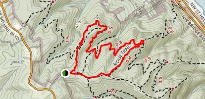 Wildwood and Ridge Trail Loop Map
