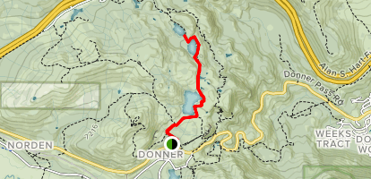 Three Lakes From Donner Map