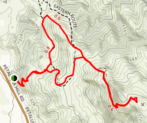 Taylor Mountain Eastern Route Map