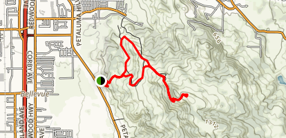 Taylor Mountain: Western to Eastern Route Map